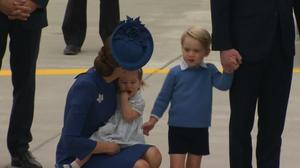 Prince William, family arrive in Canada