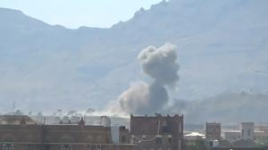 Air strikes hit military site in Sanaa