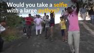 Indian man bitten by python while posing for selfie