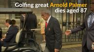 Golfing great Arnold Palmer, known as 'the King' dies at 87