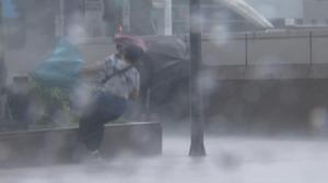 Taipei caught in typhoon