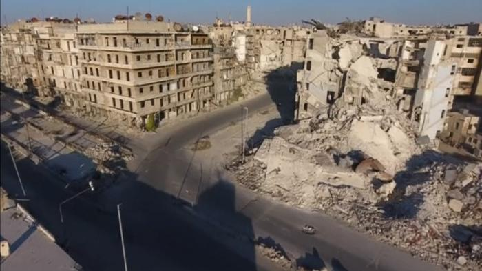 Aleppo in ruins: a bird's eye view