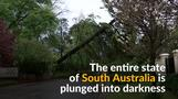 Lightning strikes leave Australian state in the dark