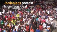 Jordanians protest multi-billion dollar gas deal with Israel