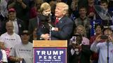 Trump brings toddler lookalike on stage