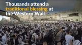 Thousands attend Jewish blessing at Western Wall