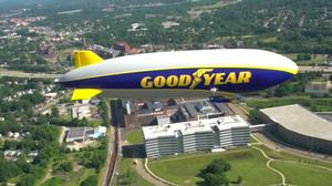 Goodyear christens new, more advanced blimp