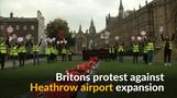 Britons protest over Heathrow expansion approval