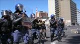 South African police clash with protesting students