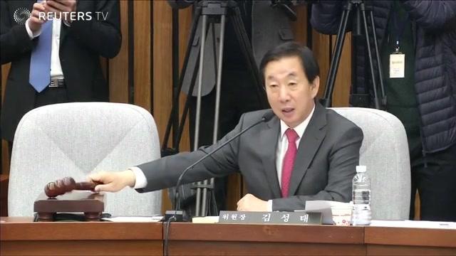 韩国反对党宣称将弹劾总统朴槿惠