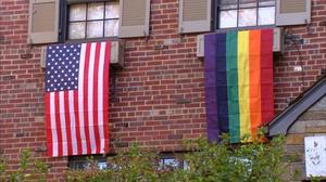 Pence's new neighbors greet him with LGBT pride flags