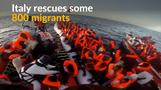Some 800 migrants rescued by Italian coastguard