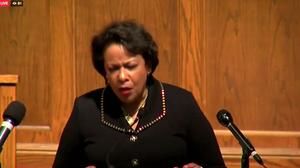 Loretta Lynch issues call to action in final speech