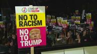 Anti-Trump protests held in European cities