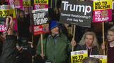 欧州主要都市でトランプ大統領就任への抗議デモ(21日)