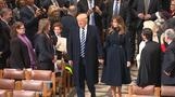 Trump attends interfaith prayer service