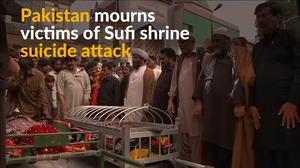 Funerals held for victims of Sufi shrine attack in Pakistan
