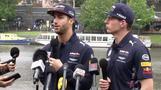 Red Bull's Ricciardo, Verstappen in a dinghy race in Melbourne