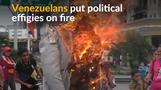 Venezuelans torch political effigies during Easter celebrations