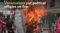Venezuelans torch political effigies during Easter celebrations