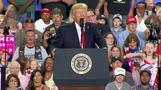 Trump rips media while touting 100 days