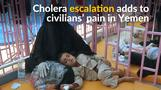 Cholera spread adds to Yemen's misery