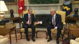 Trump meets Erdogan, tensions simmer
