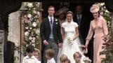 Princes William and Harry attend Pippa Middleton's wedding