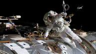 ISS emergency spacewalk underway