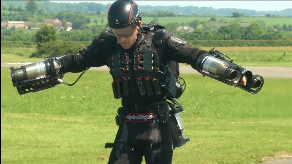 """Britain's """"Iron Man"""" breaks his own jet-suit speed record"""