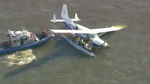 Passengers, crew rescued from seaplane in East River