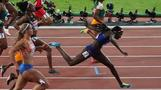 U.S. sprinter Tori Bowie dips for gold