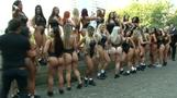 Brazilian bikini babes in cheeky line-up to find best bottom