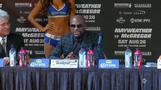 Mayweather, McGregor stay somewhat calm in final news conference