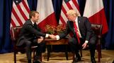 Trump, Macron meet on sidelines of UNGA