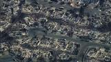 Aerial video shows widespread destruction in fire-hit Sonoma County