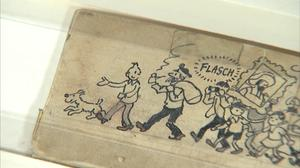 Herge's last Tintin strip goes up for auction in Liege
