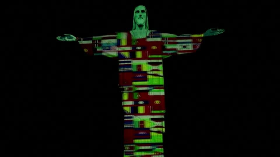 Christ the Redeemer illuminated in show of support against coronavirus