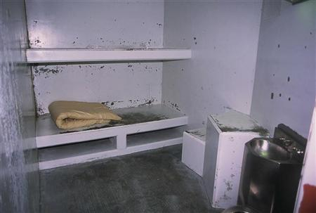 A cell in the Secure Housing Unit of Pelican Bay State Prison in Crescent City, California, April 27, 2005. Still searching for a Valentine's date? Have a penchant for muscular torsos, crew cuts and tattoos? Then www.hotprisonpals.com is the Web site for you. REUTERS/Adam Tanner