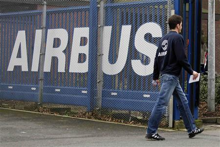 An Employee enters the Airbus facility in the northern German town of Varel February 23, 2007. REUTERS/Morris Mac Matzen