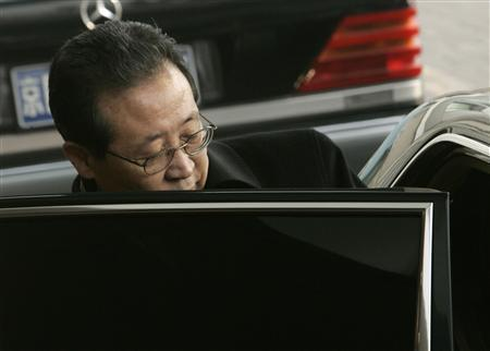 In this file photo North Korea's negotiator for the six-party talks Kim Kye-gwan gets into an embassy car after arriving at Beijing airport February 8, 2007. REUTERS/Jason Lee
