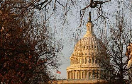 In this file photo the U.S. Capitol building is seen at sunset in Washington January 23, 2007. The U.S. House of Representatives approved a bill on Friday to give shareholders the right to cast nonbinding votes on the pay of top company executives, handing investor advocates a victory and defying the Bush administration. REUTERS/Jim Bourg