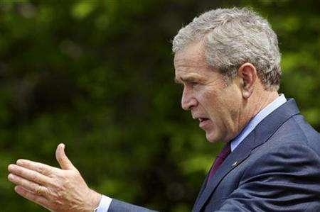 U.S. President George W. Bush speaks at the White House in Washington, May 4, 2007. In North Korea, where cracking a joke about the country's leader could see you, well, die laughing, poking fun at the U.S. president is obviously not as serious. REUTERS/Jonathan Ernst