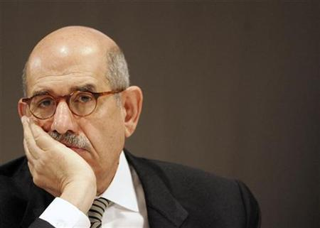 International Atomic Energy Agency (IAEA) Director General Mohamed ElBaradei listens to a speech at the International Conference on Preventing Nuclear Catastrophe in Luxembourg May 24, 2007. REUTERS/Thierry Roge