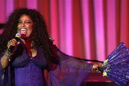 Chaka Khan performs ''The Color Purple'' at the 5th annual Behind the Lens award ceremony in Beverly Hills, California in this October 24, 2006 file photo. Khan doesn't have a lot of regrets -- and little wonder with eight Grammy Awards on her mantle. REUTERS/Mario Anzuoni
