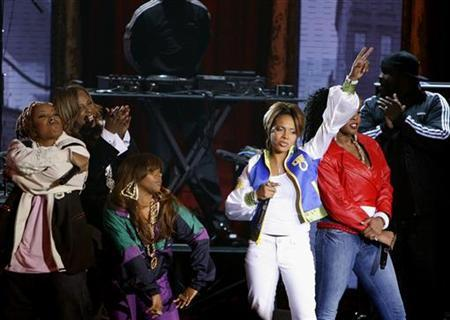 (L-R) Da Brat, Yo Yo, Lil Kim, MC Lyte and Remy Ma after performing during the 2006 VH1 Hip Hop Honors ceremony in New York. Female rap shows few, if any, signs of growth. In 2006, only Remy Ma's ''There's Something About Remy: Based on a True Story'' cracked the year-end top 100, just making the cut at No. 92. REUTERS/Lucas Jackson
