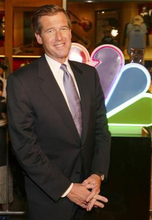 News anchor Brian Williams arrives for the NBC All-Star Event party at the Hard Rock Cafe in the Universal City area of Los Angeles January 21, 2005. General Electric Co' NBC Universal unit said on Wednesday it will launch ''widgets'' of television shows like ''Meet the Press'' and ''NBC Nightly News with Brian Williams'', allowing users to post NBC content on blogs and Web sites. REUTERS/Lee Celano