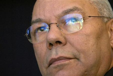 A file photo of former Secretary of State Colin Powell at the Clinton Global Initiative in New York September 21, 2006. Powell said on Sunday the U.S. military prison at Guantanamo Bay for foreign terrorism suspects should be immediately closed and its inmates moved to the United States. REUTERS/Chip East