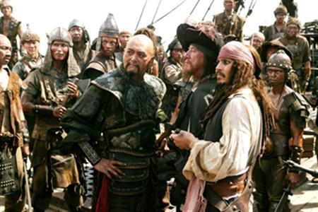 A scene from ''Pirates of the Caribbean: At World's End'' in an image courtesy of Walt Disney Pictures. China has censored part of the hit Hollywood movie for ''vilifying and defacing the Chinese'', the official Xinhua news agency said on Friday. REUTERS/Handout