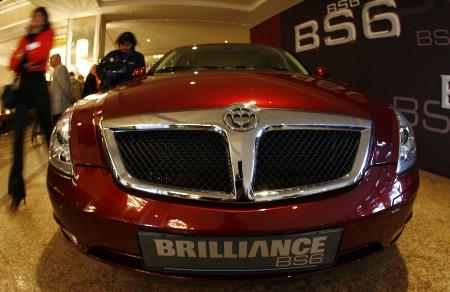 The BS6 of Chinese car manufacturer Brilliance is pictured during a presentation in the western German city of Bonn November 28, 2006. REUTERS/Alex Grimm